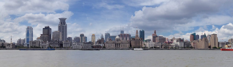 Le Bund vu depuis Lujiazui, le quartier d'affaires de Pudong