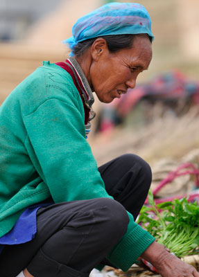 Le pittoresque marché de Shaping (Shāpíng 沙坪), à 30km au nord de Dali (Dàlǐ 大理), Yunnan (Yúnnán 云南)