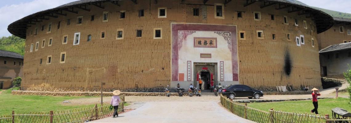Le cluster Gāo Běi 高北 et le plus grand Tǔ Lóu circulaire du Mǐnxī Chéng Qǐ Lóu 承啓楼, Fujian, China