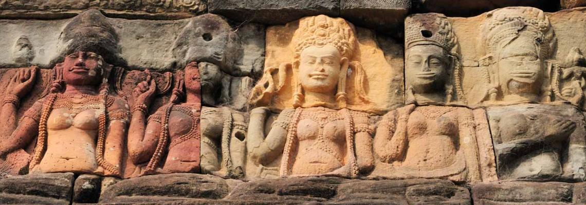 Terrasse du roi lépreux, Angkor Thom, Cambodge