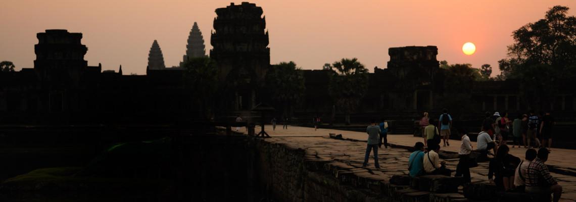 Angkor Vat au coucher de soleil