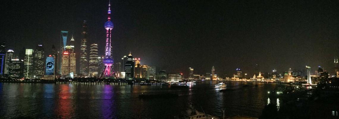 Pudong et le Bund vus depuis Shanghai International Port Cruise
