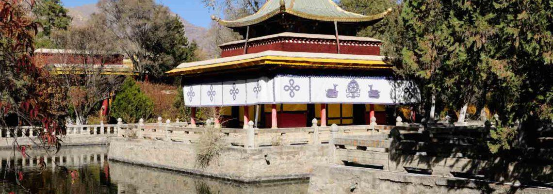 La résidence d'été du Dalaï-Lama Norbulingka, Luó Bù Lín Kǎ 罗布林卡, Lhasa, Tibet