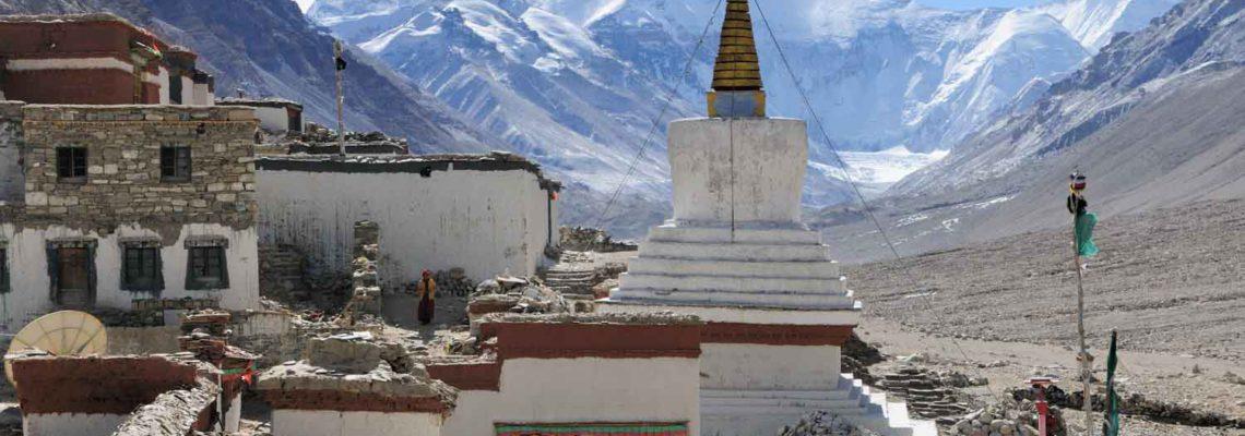 Monastère Rongbuk, Róngbù Sì 絨布寺, Tibet